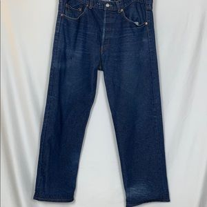Levi's 501 straight leg button-fly jeans 42/30